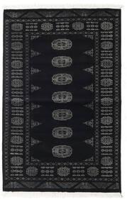 Pakistan Bokhara 2Ply Matta 94X146 Äkta Orientalisk Handknuten Svart/Mörkgrå (Ull, Pakistan)