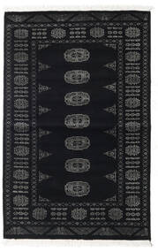 Pakistan Bokhara 2Ply Vloerkleed 94X146 Echt Oosters Handgeknoopt Zwart/Donkergrijs (Wol, Pakistan)