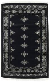 Pakistan Bokhara 2Ply Matta 95X150 Äkta Orientalisk Handknuten Svart/Mörkgrå (Ull, Pakistan)