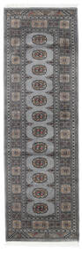 Pakistan Bokhara 2Ply Rug 79X249 Authentic  Oriental Handknotted Hallway Runner  Dark Grey/Light Grey (Wool, Pakistan)
