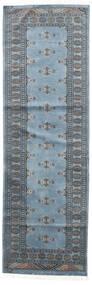 Pakistan Bokhara 2Ply Rug 75X238 Authentic  Oriental Handknotted Hallway Runner  Blue/Light Blue/Dark Grey (Wool, Pakistan)