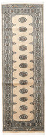 Pakistan Bokhara 2Ply Rug 80X241 Authentic  Oriental Handknotted Hallway Runner  Beige/Dark Grey/Light Grey (Wool, Pakistan)