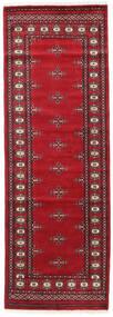 Pakistański Bucharski 2Ply Dywan 80X235 Orientalny Tkany Ręcznie Chodnik Ciemnoczerwony/Czerwony (Wełna, Pakistan)