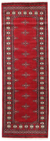 Pakistan Bokhara 2Ply Rug 80X235 Authentic  Oriental Handknotted Hallway Runner  Dark Red/Crimson Red (Wool, Pakistan)