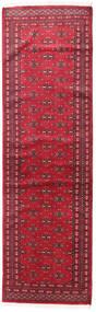 Pakistan Bokhara 2Ply Rug 77X253 Authentic  Oriental Handknotted Hallway Runner  Crimson Red/Dark Red (Wool, Pakistan)