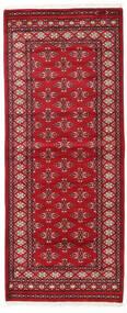 Pakistan Bukara 2Ply Alfombra 81X199 Oriental Hecha A Mano Rojo Oscuro/Roja (Lana, Pakistán)