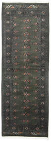 Pakistan Bokhara 2Ply Rug 77X218 Authentic  Oriental Handknotted Hallway Runner  Dark Grey (Wool, Pakistan)