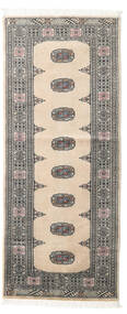 Pakistan Bokhara 2Ply Rug 77X185 Authentic  Oriental Handknotted Hallway Runner  Dark Grey/Beige/Light Grey (Wool, Pakistan)