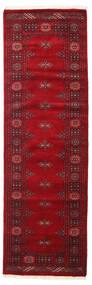 Pakistan Buchara 3Ply Teppich  80X256 Echter Orientalischer Handgeknüpfter Läufer Dunkelrot/Rot (Wolle, Pakistan)