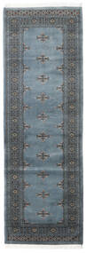 Pakistan Bokhara 3Ply Rug 78X237 Authentic  Oriental Handknotted Hallway Runner  Light Grey/Blue (Wool, Pakistan)
