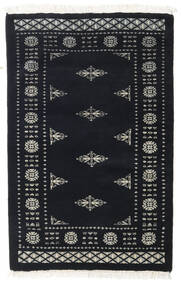 Pakistan Bokhara 3Ply Rug 81X125 Authentic  Oriental Handknotted Dark Grey (Wool, Pakistan)