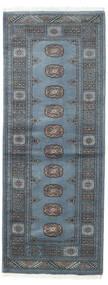 Pakistan Bokhara 3Ply Rug 80X207 Authentic  Oriental Handknotted Hallway Runner  Blue/Dark Grey (Wool, Pakistan)