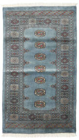 Pakistan Bokhara 3Ply Rug 95X166 Authentic  Oriental Handknotted Blue/Dark Grey/Light Blue (Wool, Pakistan)