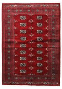 Pakistan Bokhara 3Ply Teppe 139X196 Ekte Orientalsk Håndknyttet Mørk Rød/Beige (Ull, Pakistan)