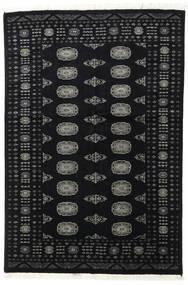 Pakistan Bokhara 2Ply Vloerkleed 135X200 Echt Oosters Handgeknoopt Zwart/Donkergrijs (Wol, Pakistan)