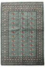 Pakistan Bokhara 3Ply Matto 140X205 Itämainen Käsinsolmittu Tummanharmaa/Vaaleanharmaa (Villa, Pakistan)
