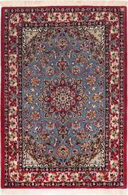 Isfahan Seidenkette Teppich 73X104 Echter Orientalischer Handgeknüpfter Dunkelrot/Braun (Wolle/Seide, Persien/Iran)