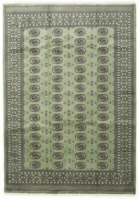 Pakistan Bokhara 2Ply Rug 199X284 Authentic  Oriental Handknotted Dark Grey/Olive Green (Wool, Pakistan)