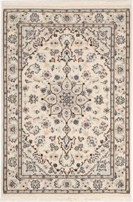 Nain 9La Sherkat Farsh Tappeto 83X120 Orientale Fatto A Mano Grigio Chiaro/Beige (Lana/Seta, Persia/Iran)