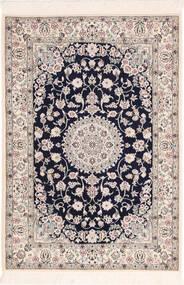Nain 6La Teppich 82X120 Echter Orientalischer Handgeknüpfter Hellgrau/Beige (Wolle/Seide, Persien/Iran)