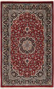 Ilam Sherkat Farsh Silk Rug 78X127 Authentic  Oriental Handknotted Dark Red/Dark Brown (Wool/Silk, Persia/Iran)