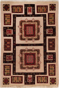 Afshar/Sirjan Koberec 101X150 Orientální Ručně Tkaný Tmavě Hnědá/Světle Hnědá (Vlna, Persie/Írán)