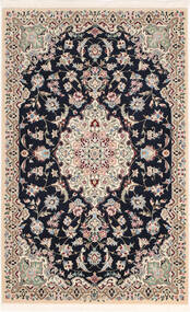 Nain 9La Sherkat Farsh Vloerkleed 90X142 Echt Oosters Handgeknoopt Lichtgrijs/Zwart (Wol/Zijde, Perzië/Iran)