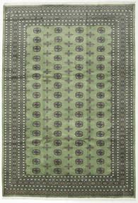 Pakistan Bokhara 2Ply Rug 245X354 Authentic  Oriental Handknotted Dark Grey/Olive Green (Wool, Pakistan)