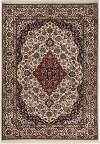 Ilam Sherkat Farsh Silk Rug 100X145 Authentic Oriental Handknotted Light Grey/Dark Brown (Wool/Silk, Persia/Iran)