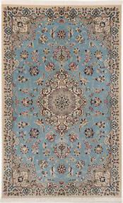 Nain 9La Sherkat Farsh Rug 90X145 Authentic Oriental Handknotted Light Grey/Light Blue (Wool/Silk, Persia/Iran)