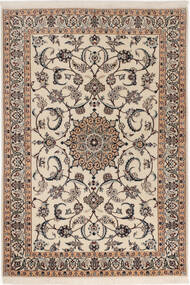 Nain 6La Rug 98X145 Authentic  Oriental Handknotted Light Grey/Beige (Wool/Silk, Persia/Iran)