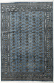 パキスタン ブハラ 2Ply 絨毯 242X359 オリエンタル 手織り 濃いグレー/薄い灰色 (ウール, パキスタン)
