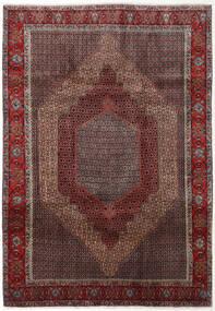 Senneh Dywan 202X288 Orientalny Tkany Ręcznie Ciemnoczerwony/Ciemnobrązowy (Wełna, Persja/Iran)