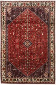 Abadeh Covor 194X292 Orientale Lucrat Manual Roșu-Închis/Maro Închis (Lână, Persia/Iran)