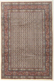 Moud Rug 199X293 Authentic  Oriental Handknotted Light Grey/Dark Grey (Wool/Silk, Persia/Iran)