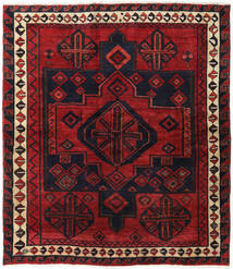 Lori Rug 174X200 Authentic  Oriental Handknotted Dark Red/Black (Wool, Persia/Iran)