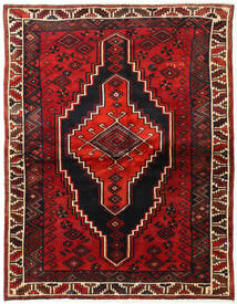 Lori Rug 167X215 Authentic  Oriental Handknotted Black/Dark Red/Rust Red (Wool, Persia/Iran)