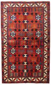 Lori Rug 138X231 Authentic  Oriental Handknotted Dark Brown/Dark Red (Wool, Persia/Iran)