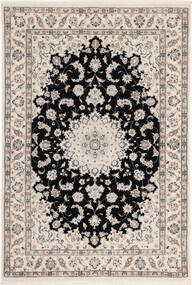 Nain 6La Rug 108X160 Authentic Oriental Handknotted Light Grey/Black (Wool/Silk, Persia/Iran)