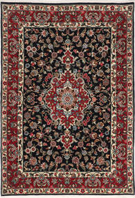 Qum Kork/Silk Rug 110X160 Authentic  Oriental Handknotted Dark Brown/Dark Red (Wool/Silk, Persia/Iran)