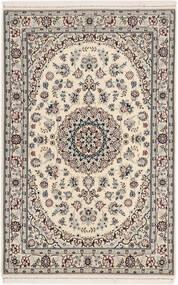 Nain 6La Rug 105X160 Authentic  Oriental Handknotted Light Grey/Beige (Wool/Silk, Persia/Iran)