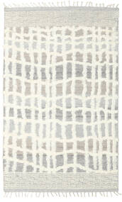 Barchi/Moroccan Berber - Indo Rug 160X230 Authentic  Modern Handknotted Light Grey/Beige/White/Creme (Wool, India)