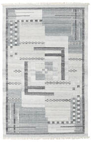 Pet Yarn Kilim Rug 160X230 Authentic  Modern Handwoven Light Grey/Light Blue ( India)