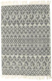 Kelim Drop/Struktur Teppich  160X230 Echter Moderner Handgewebter Dunkelgrau/Hellgrau/Beige (Wolle, Indien)
