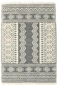 Kelim Drop/Struktur Teppich  160X230 Echter Moderner Handgewebter Hellgrau/Beige/Dunkelgrau (Wolle, Indien)
