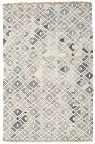 Bambù Di Seta Kilim Tappeto 160X230 Moderno Tessuto A Mano Grigio Chiaro (Lana/Seta Di Bambù, India)