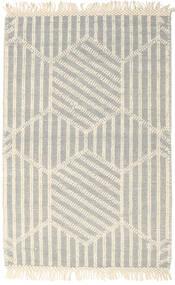 Kelim Drop/Struktur Teppich  160X230 Echter Moderner Handgewebter Beige/Hellgrau (Wolle, Indien)