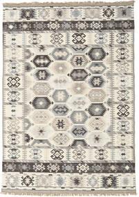 Kazak Indie Dywan 160X230 Orientalny Tkany Ręcznie Jasnoszary/Beżowy (Wełna, Indie)