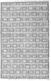 Pet Yarn Kilim Rug 160X230 Authentic  Modern Handwoven Light Grey/White/Creme ( India)