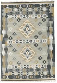 Kilim Indiai Szőnyeg 160X230 Modern Kézi Szövésű Világosszürke/Fekete (Gyapjú, India)